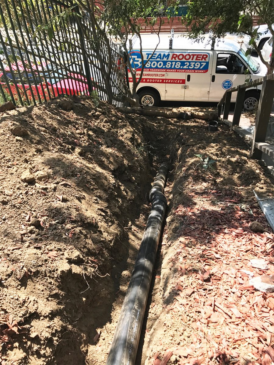 Sewer line replacement in Los Angeles